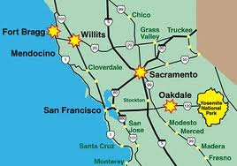 fort bragg CA map